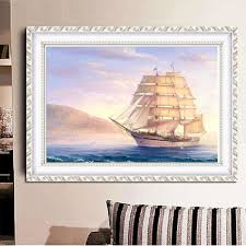sailboat home decor 5d sailboat cube diamond painting embroidery diy cross stitch home