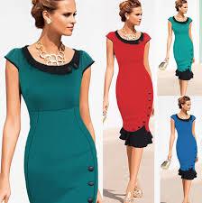 women work casual dress elegant lady career dress office wear to