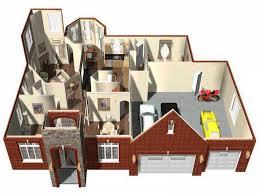 Home Design Builder Software by 25 More 3 Bedroom 3d Floor Plans House Design Bed Momchuri