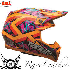 motocross bike helmets bell moto 9 tagger trouble orange mx motocross motorbike dirt bike