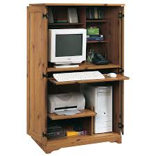 White Computer Armoire by Shop Sauder Sugar Creek Country Computer Desk At Lowes Com