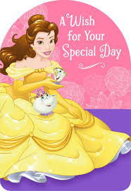 beauty and the beast belle special wish birthday card greeting