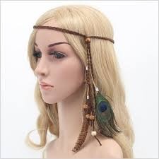 bohemian hair accessories aliexpress buy bohemian peacock feather braided headband