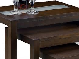 wenge frosted center glass wood bowen flat packed santiago wenge and frosted glass nest of tables