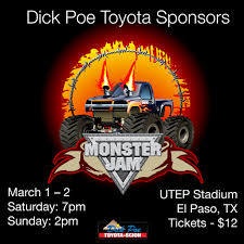 el paso monster truck show 2014 poe toyota blog el paso u0027s premier toyota scion dealership