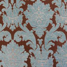 Blue Damask Upholstery Fabric Rosaline Mineral Blue Damask Upholstery Fabric By P Kaufmann