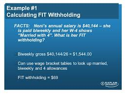 W 4 Withholding Table Ac122 01 Unit 5 Seminar May 16 2012 Of Business And