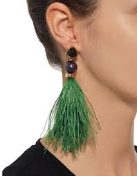 mr t feather earrings lizzie fortunato feather earrings in green
