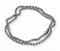 metal ball chain necklace images Mens silver steel neck chains leather cords 10sterling jpg