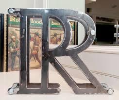 3 d metal letters large 8x10 metal r letter