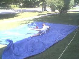 Backyard Slip N Slide Frugal Slip N U0027 Slide Hoosier Homemade