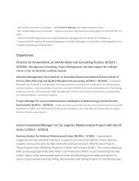 Sample Resume For Sap Mm Consultant Teacher Cover Letter Examples Ontario How To Write A Categorical