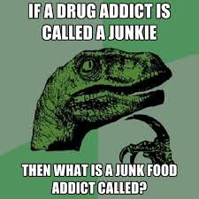 Drug Addict Meme - if a drug addict is called a junkie then what is a junk food addict