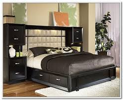 King Size Headboard With Storage Modern King Bed With Storage Simple Platform King Bed Solid