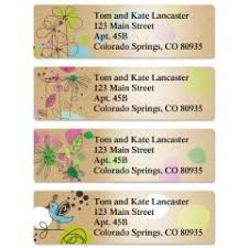personalized return address labels colorful images