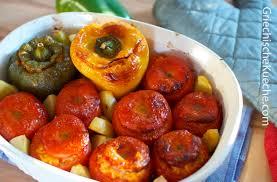 griechische küche gefüllte tomaten und paprikas jemista griechische küche