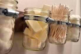 Mason Jar Bathroom Organizer Seven Repurposing Concepts For Mason Jars Decorations Tree