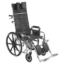 sentra reclining wheelchair with various arm styles and elevating