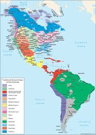 North Central And South America Map by American Indian Traditional Cultural Areas Of The Americas