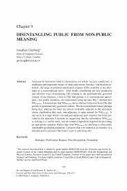 disentangling public from non public meaning springer