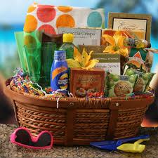 summer gift basket just add sunscreen summer gift basket cotton towel banana
