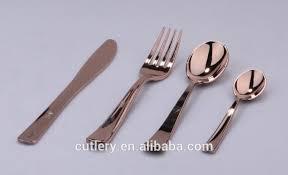 gold plastic silverware gold plastic flatware buy gold plastic flatware gold plated