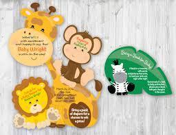jungle invitation safari invitations monkey invitation book card