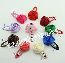 barrette clip korean children diy flower ribbon bow barrette clip edge clip
