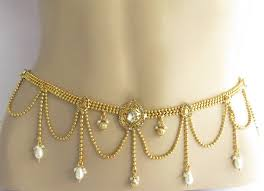 gold waist belly chain waist hip sari saree by beauteshoppe