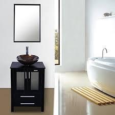 eclife updated heighten 24 u201d bathroom vanity combo modern mdf
