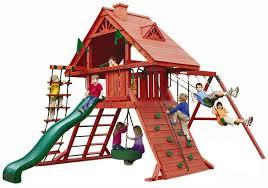 Best Backyard Swing Sets by Best Wooden Swing Sets Swing Set Resource