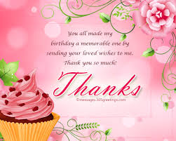 thank you message for birthday wishes on 365greetings