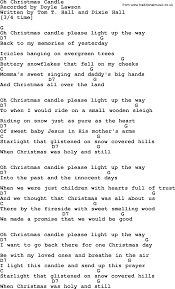 light up christmas candles oh christmas candle bluegrass lyrics with chords