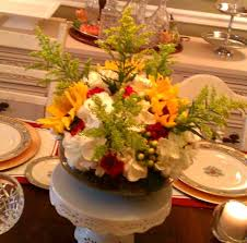 thanksgiving floral centerpiece high heels to wheels