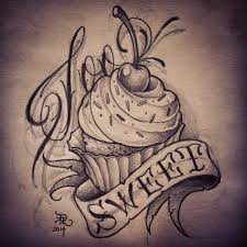 best 25 cupcake tattoos ideas on pinterest cake drawing sweets
