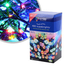 led net lights multi color premier christmas supabright light decorations indoor and outdoor