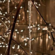 glass icicles frosted elegance decor