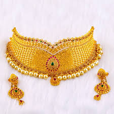 gold har set gold chokan har set chhrs 0027 gold necklace jewellery