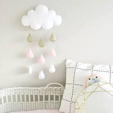 mobile chambre enfant suspension mobile nuage et gouttes de pluie décoration chambre