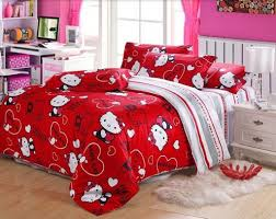 beautiful hello kitty bedroom set queen for house decor