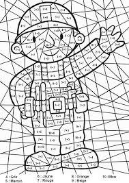 Coloriage Magique Ce2 à colorier  Dessin à imprimer  Matematika