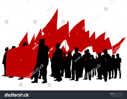 Flag People Vector Drawing Group People Flags Stock Vector 160771985