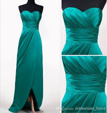 cheap teal bridesmaid dresses 2014 cheap teal color of honor dresses stretch satin