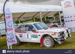 toyota area the toyota team paddock area at the 2014 goodwood festival of