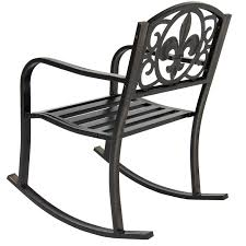Outdoor Rocking Chairs For Heavy Patio Metal Rocking Chair Porch Seat Deck Outdoor Backyard Glider