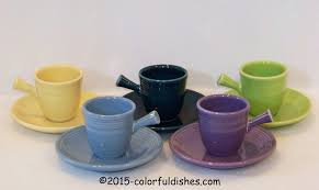 fiesta mugs cups and saucers