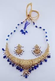 gold blue stone necklace images Blue stone gold necklace set necklace set sita pura jaipur jpg