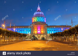 sf city hall lights san francisco city hall lights up to celebrate the lgbt pride month