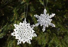 crocheted christmas ornaments petals to picots