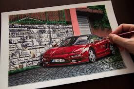 old cars drawings this guy creates hyper realistic car drawings and it u0027s awesome